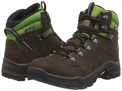 Alpina 680277, Chaussures de Trekking Et Randonnée Femme - Marron - Braun (Brown/Green), 38