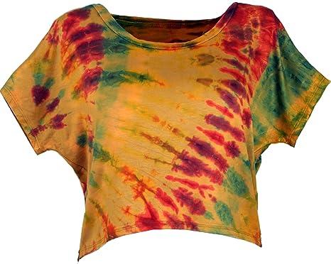 GURU-SHOP, Camiseta Hippie Batik, Azul/Colorida, Sintético, Tamaño:40, Camisetas, Camisetas, Camisetas: Amazon.es: Ropa y accesorios