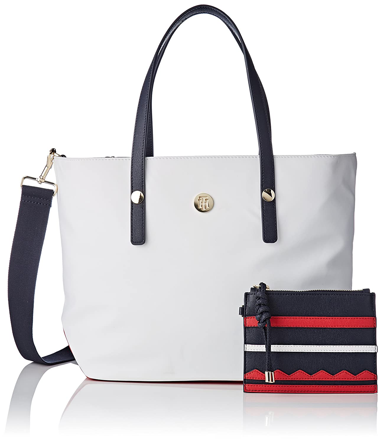 Tommy Hilfiger Tommy City Med Tote Nylon, Sacs portés épaule Sacs portés épaule femme Bleu (Corporate Cb) 11.4x27.5x27.5 cm (B x H T) AW0AW05452