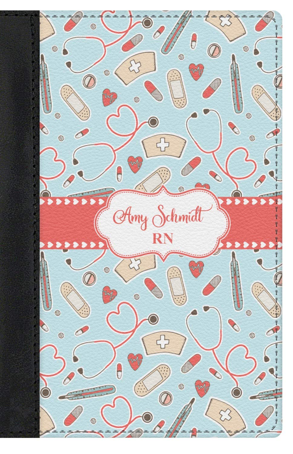 Nurse Genuine Leather Passport Cover Personalized