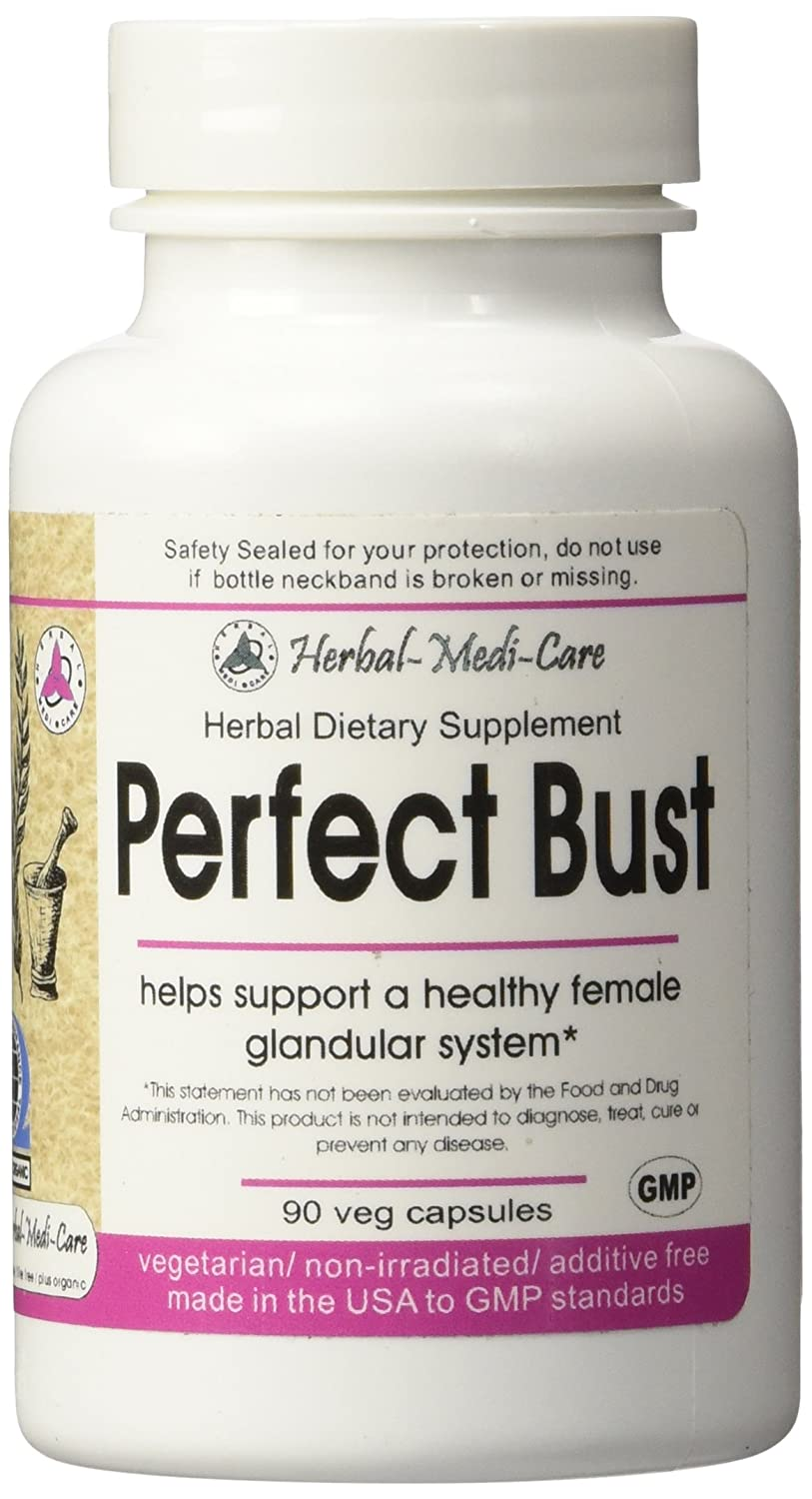 Amazon.com: Herbal-Medi-Care Whole Food Perfect Bust (Breast Health)  Vegetarian Capsules; 90-Count, Made with Organic: Health & Personal Care