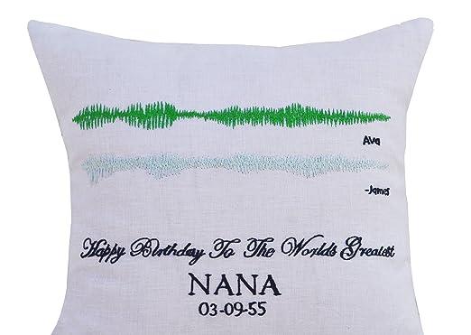 Amore Beaute Funda de almohada de ondas de sonido, regalo ...