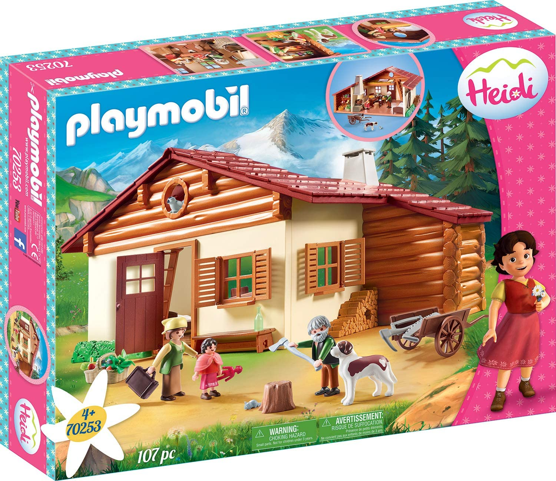 PLAYMOBIL Heidi en la Cabaña de los Alpes, A partir de 4 Años (70253)
