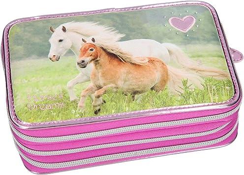 TOP MODEL- Estuche escritura triple lleno Horses Dreams, purpurina (0010532), Multicolor (DEPESCHE 1): Amazon.es: Juguetes y juegos