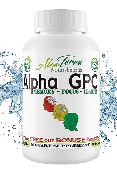 Amazon Com Alpha Gpc Choline 100 Organic Made In Usa 300mg 60