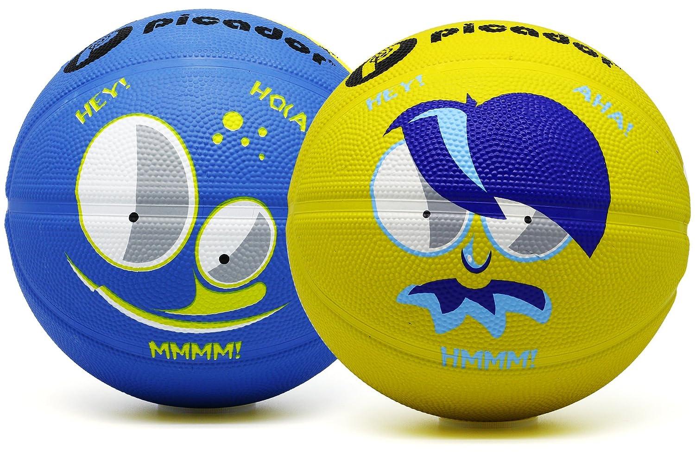 Picador漫画デザインバスケットボールサイズ3コンボパック B06Y59LX3C Blue + Yellow