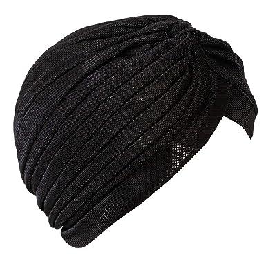Toocool - Turbante Mujer Gorra Lurex Sombrero Pliegues Suave ...