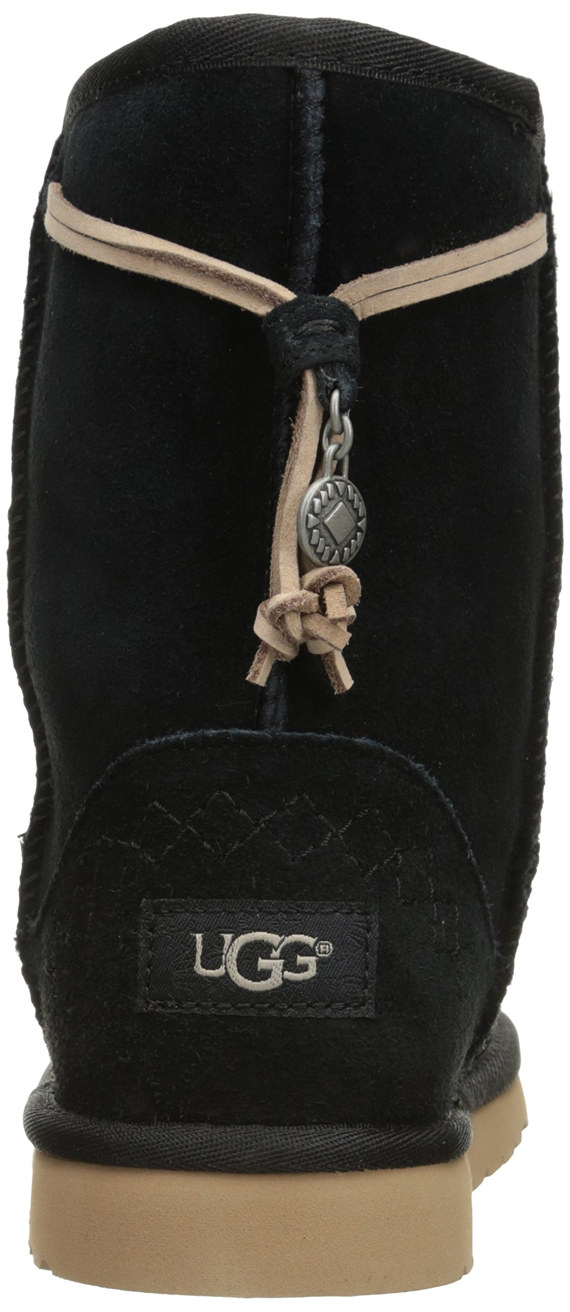 UGG Kids' K Classic Short Carranza Pull-on Boot, Black, 2 M US Little Kid by UGG (Image #2)