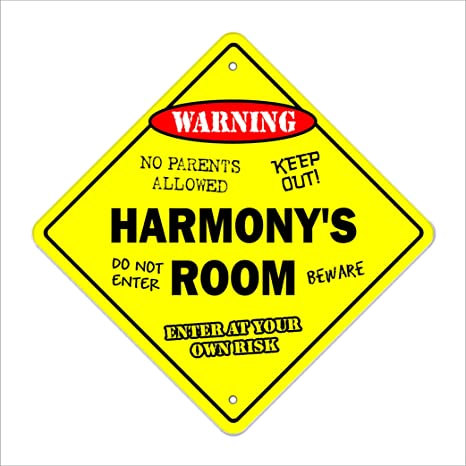 Indoor//Outdoor HARMONY Street Sign Childrens Name Room Decal