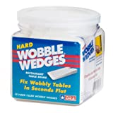 Wobble Wedge - Hard Clear - Restaurant Table
