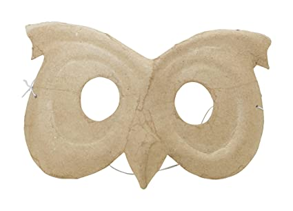 Decopatch Papel maché para niños Búho máscara, 5 x 15 x 9,5 cm