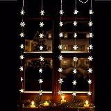 LED-Vorhang, warmweiss,5 Stränge mit je