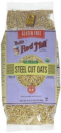 Bobs Red Mill Acero Cut Avena sin gluten (4 x 24 oz): Amazon ...