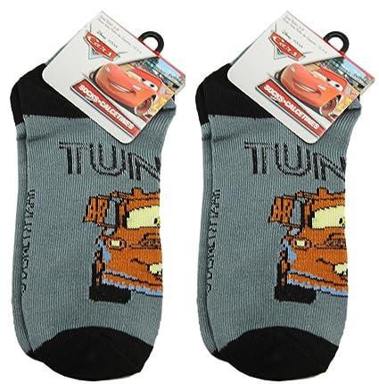 2 Pair Grey Mater Disney Cars Socks (Size 6-8)