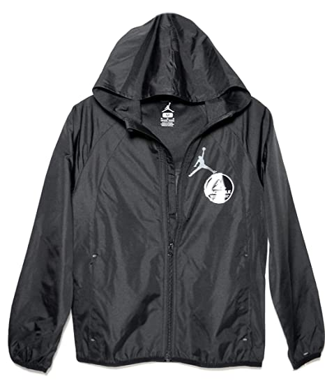 1da048fca2d4 Image Unavailable. Image not available for. Color  Nike Jordan Jumpman Boys  Packable Hooded Windbreaker Jacket ...