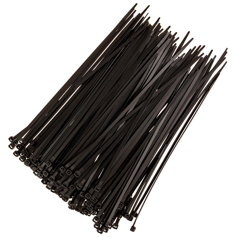 Zip Ties, Adjustable, Durable, Self Locking , Nylon Zip Cable Ties for Home/Office/Garage/Workshop, Black, 100 Piece