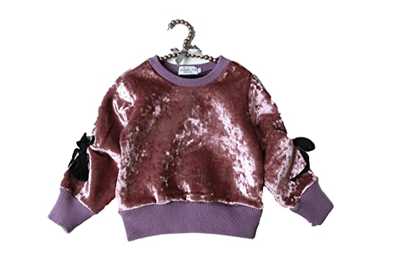 d1bd8c8495f5 Amazon.com  CHOCOKIDS Eyecandy Purple Suede Girls Sweater with Loop ...