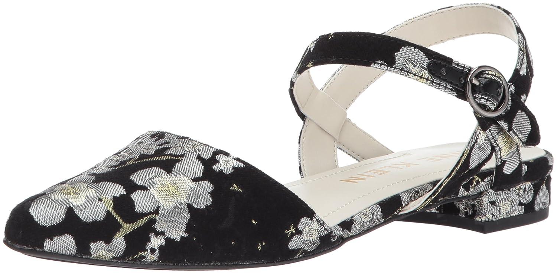 Anne Klein Women's Odell Fabric Ballet Flat B0722QH22X 9.5 B(M) US|Black/Multi Floral