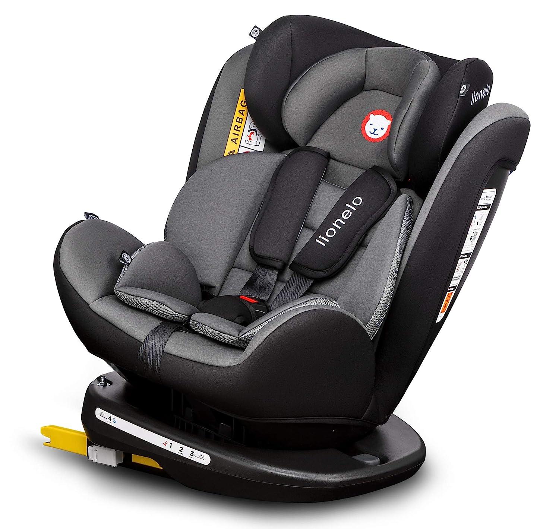 Autositz Kinder Kinderautositz Bastiaan 360° Grau ISOFIX 0-36 kg Gruppe 0//1//2//3