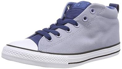 Converse CTAS Street Mid Glacier Grey/Navy/White, Baskets Hautes Mixte Enfant, Blau (Glacier Grey/Navy/White), 31 EU