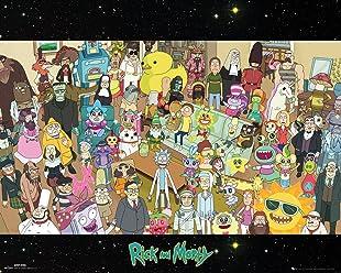 65 x 3.5 x 3.5 cm Rick and Morty Door Poster 53x158cm Quotes GB eye Ltd Various Wood