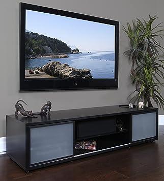 75 tv stand. PLATEAU SR-V 75 BB-B Wood 75\u0026quot; TV Stand, Black Oak Tv Stand