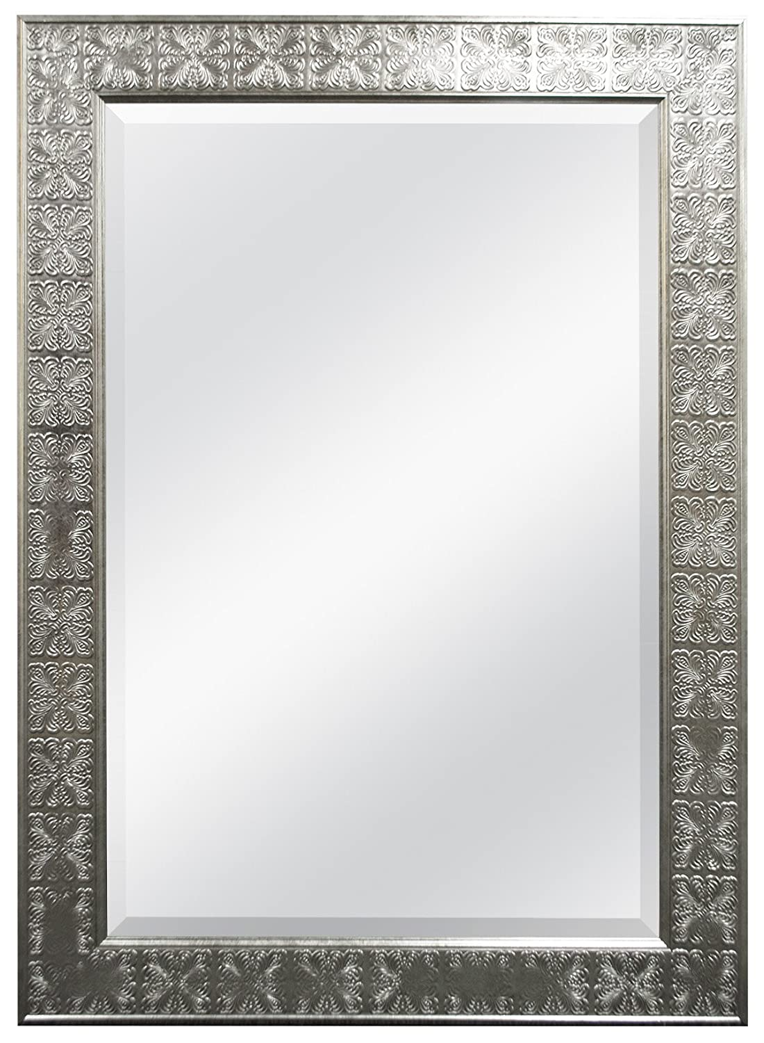 MCS 24 by 36-Inch Beveled Mirror, 32 by 44-Inch, Medallion Finish, Stamped Silver MCS Industries Inc. 47700