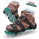 Lawn Aerator Spike Shoes - For Effectively Aerating Lawn Soil – Comes with 3 Adjustable Straps with Metallic Buckles – Universal Size that Fits all - For a Greener and Healthier Yard