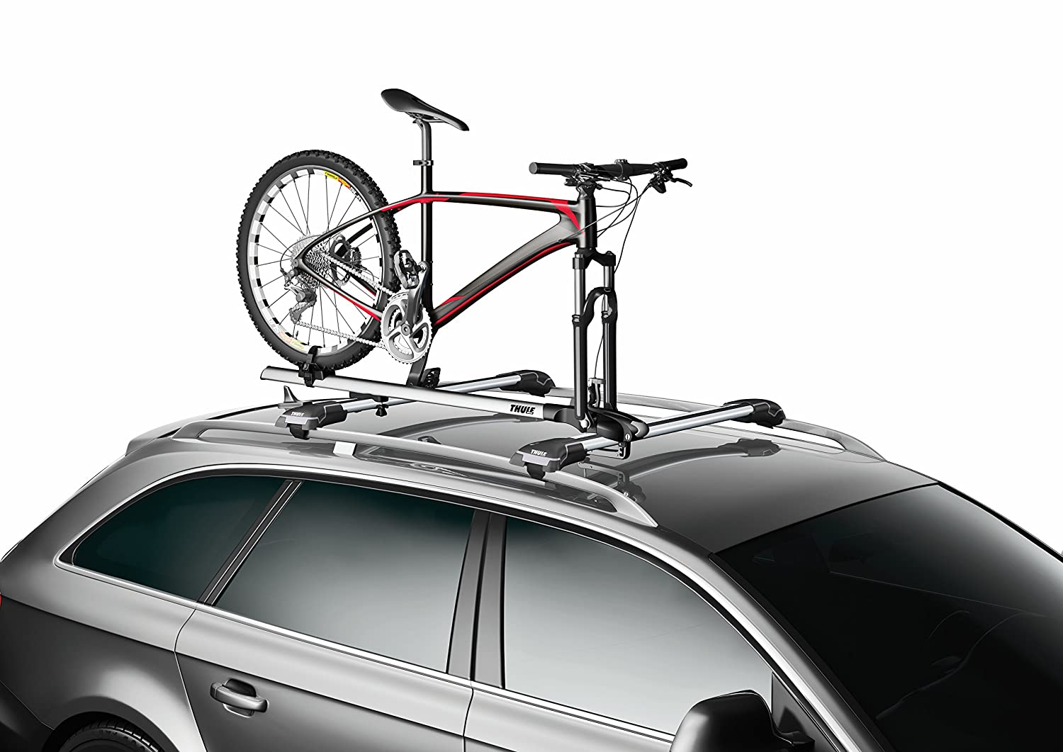 Amazon.com : Thule 535 ThruRide Roof Bike Rack Fork Mount For Use W/Thule  Rack Systems/Round Bars/Factory Racks ThruRide Roof Bike Rack : Sports  Outdoors ...
