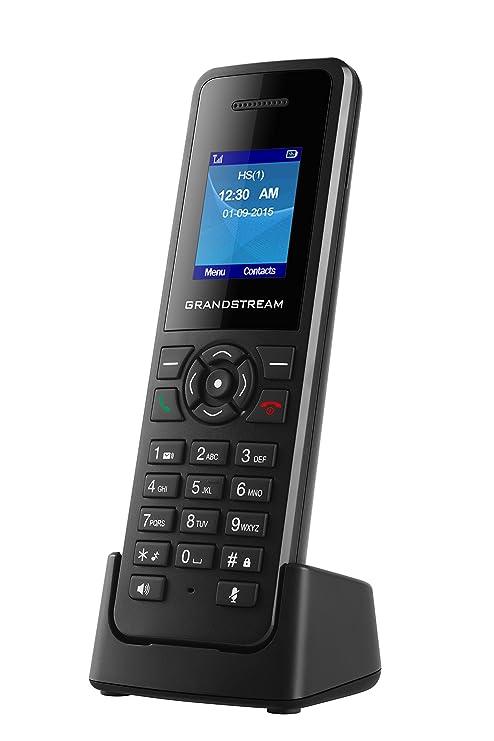 Grandstream Networks DP720 DECT Negro - Teléfono (Teléfono DECT, Terminal inalámbrico, Altavoz,
