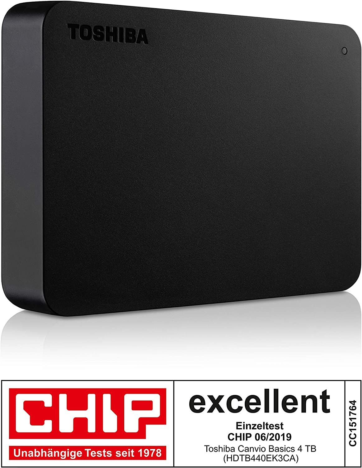 Toshiba HDTB440EK3CA 4TB Canvio Basics 2.5-Inch USB 3.0 Portable External Hard Drive - Black