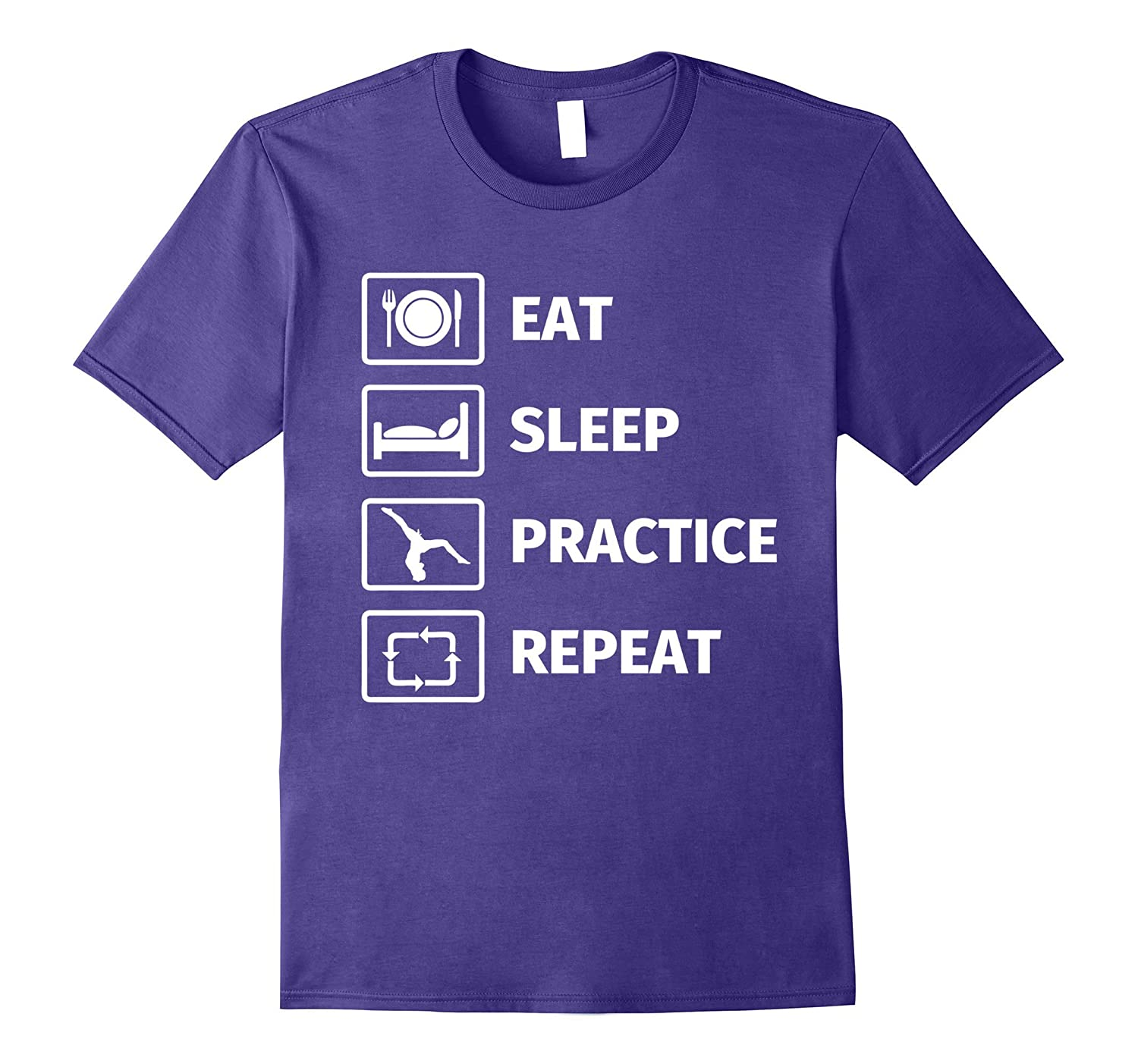 Gifts for Gymnasts EAT SLEEP GYMNASTICS REPEAT Shirt-T-Shirt