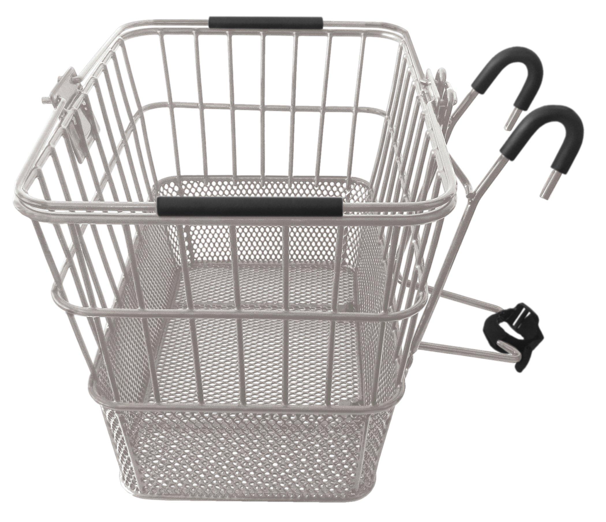 Treasure Gifts Mesh Bottom Lift-Off Basket w/Bracket, Silver