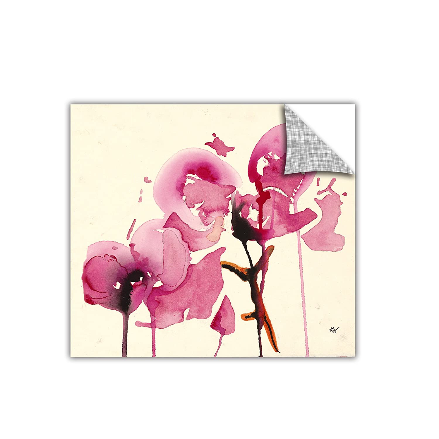 ArtWall Appealz Karin Johanneson Removable Graphic Wall Art Orchids I 18 by 18-Inch