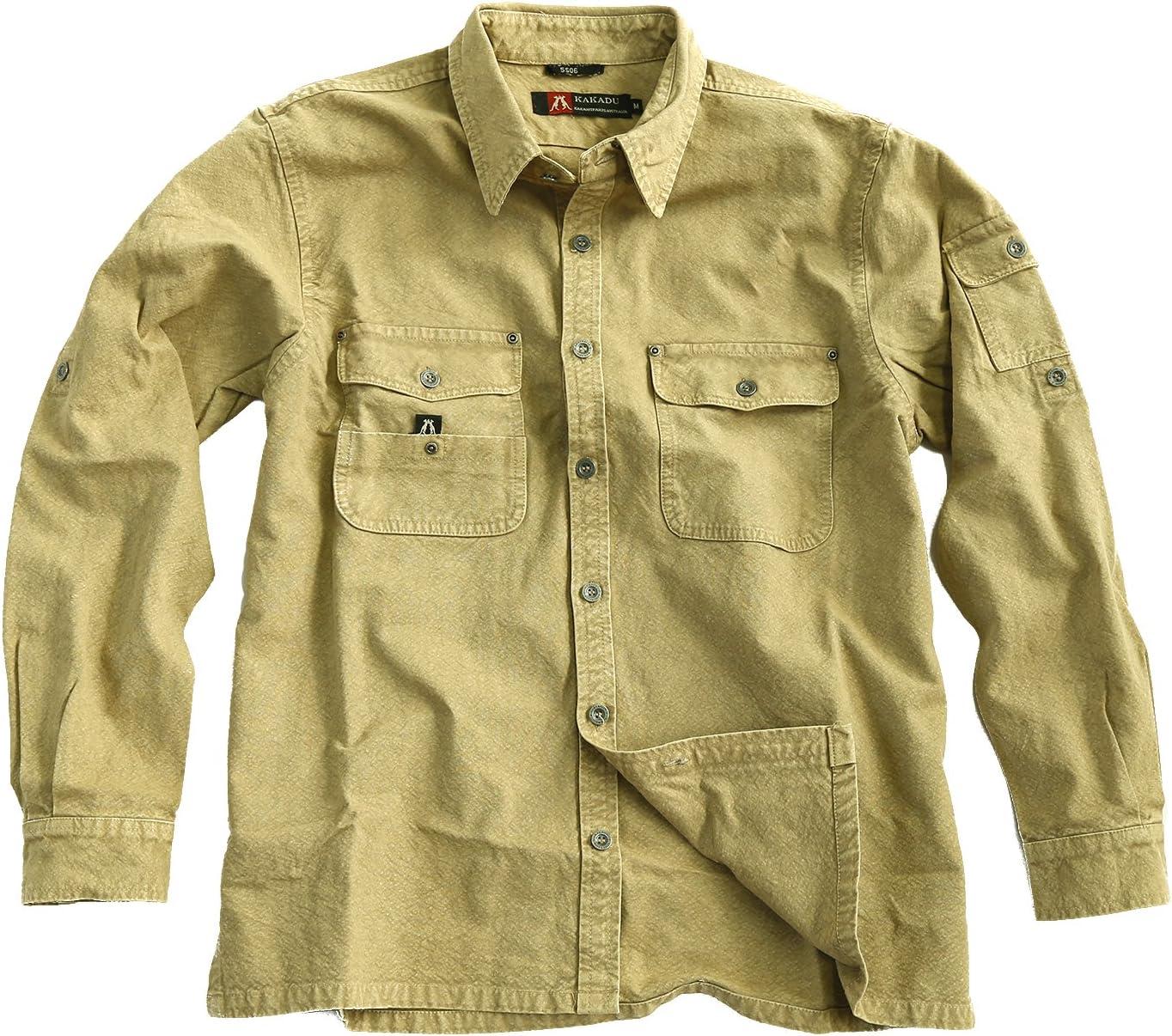 Señor Camisa de Exterior Robusta Overshirt en marrón, Mustard ...