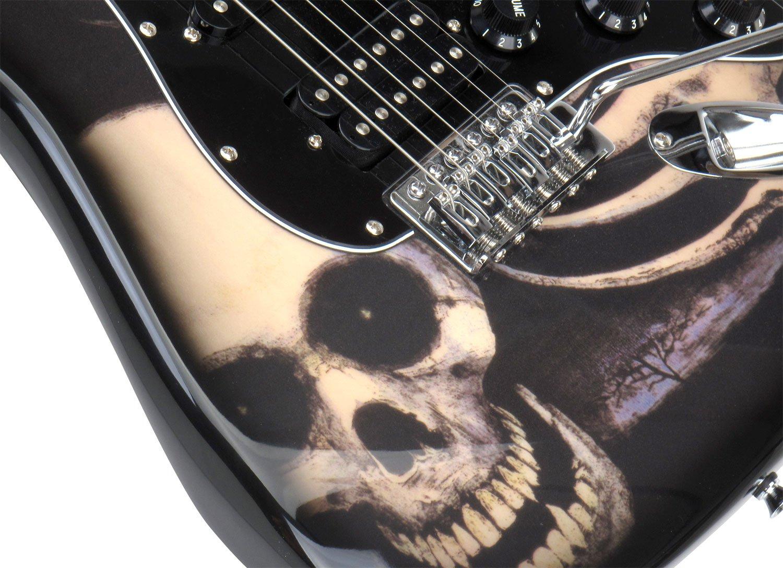 Rocktile Pro ST60-SKULL E-Gitarre Skull Design (1 Humbucker, 2 ...