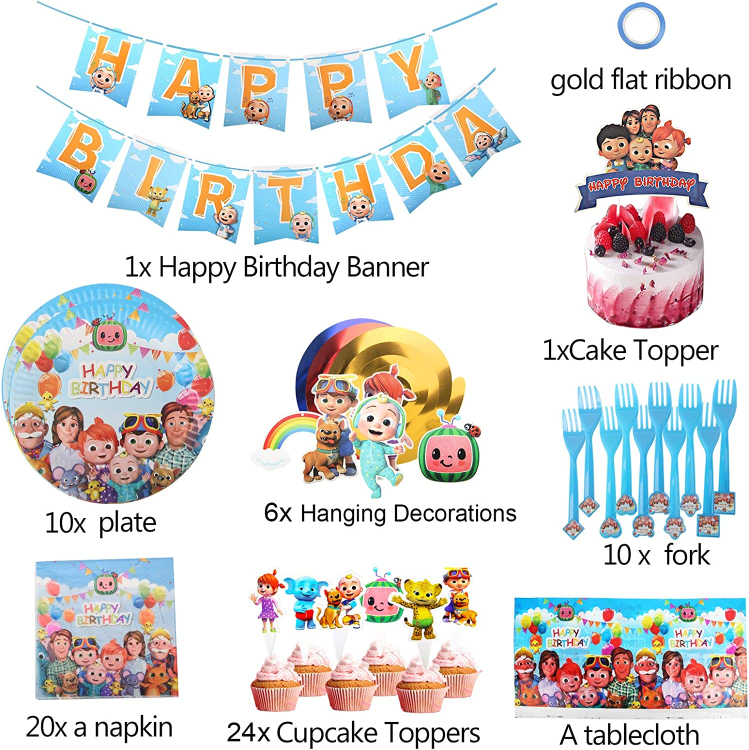 20x Photo Booth Props Kit for Kids Birthday Party Wedding Party Favors