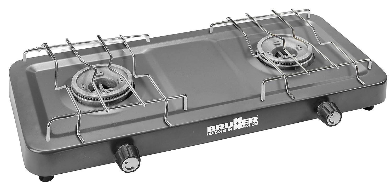 Brunner 0708050 N Hornillo Gas portatil Magma 2 Fuegos Presión 30 mbar: Amazon.es: Hogar