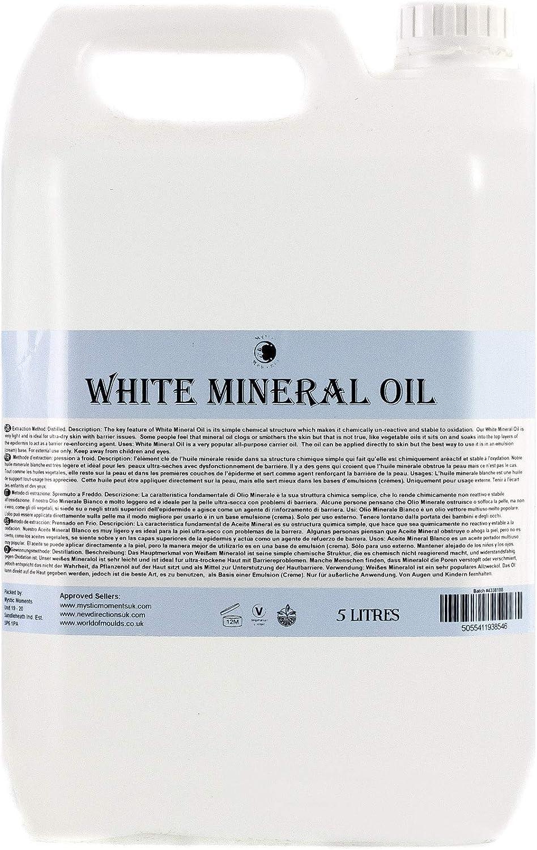 Mystic Moments Aceite Mineral Blanco Portador de Aceite, 5 litros, 100% Puro