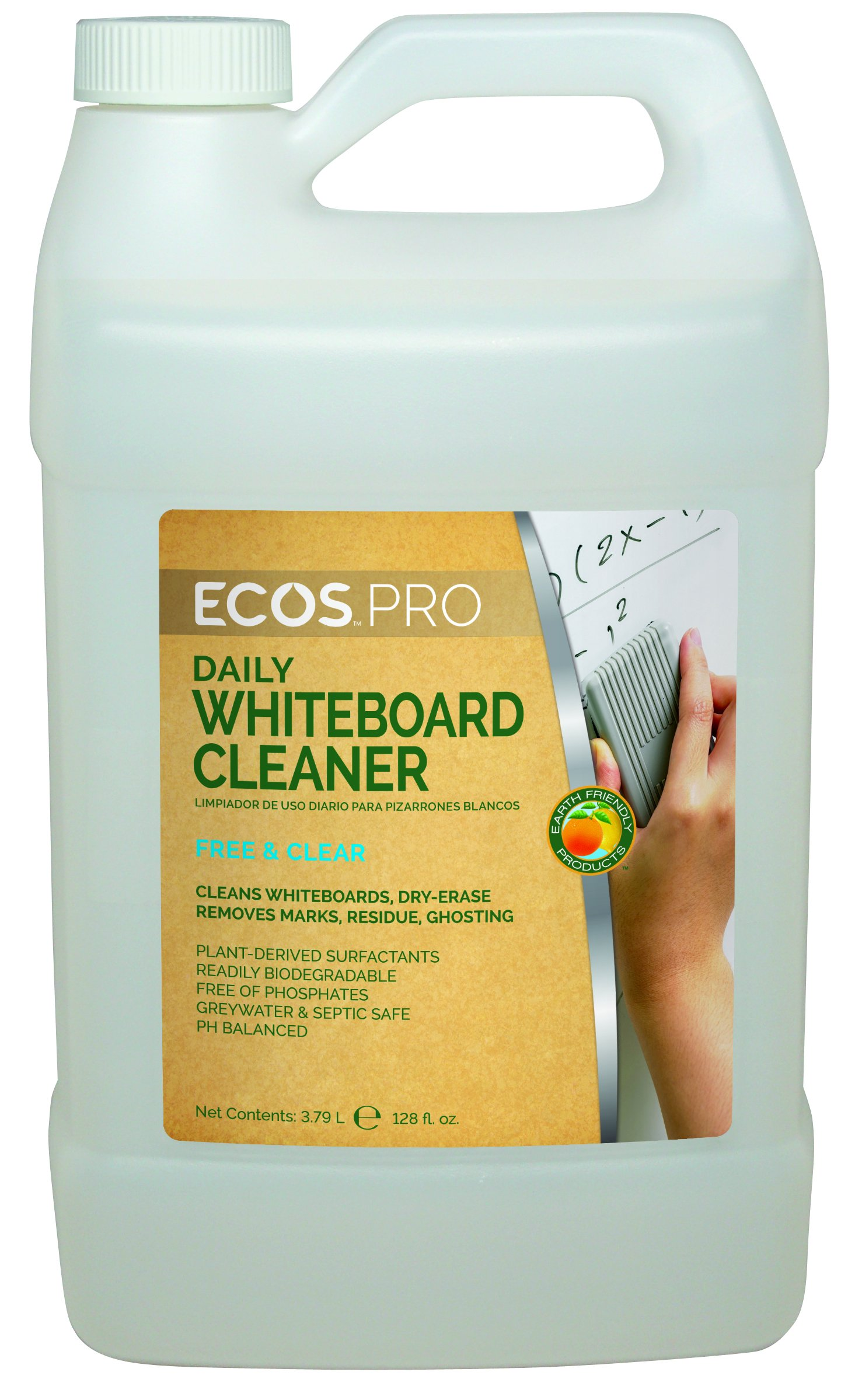ECOS PRO PL9869/04 Everyday Whiteboard Cleaner (Pack of 4) by ECOS PRO