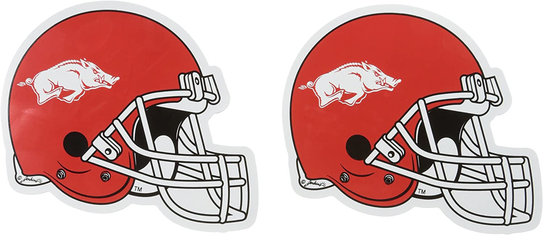 Small, 2 Pack NCAA Arkansas Razorbacks Car Magnet Helmet