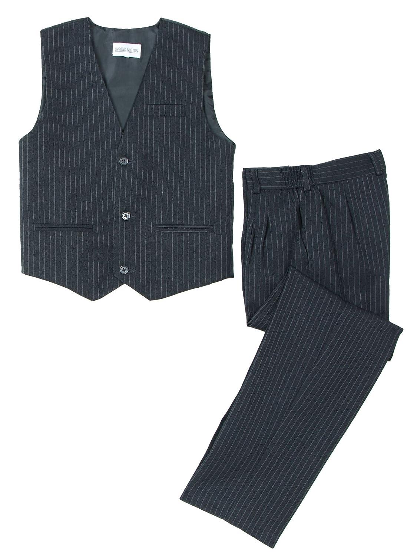 Spring Notion Big Boys 3 Piece Pinstripe Suit Set ERF1689-SNS-1689-3P