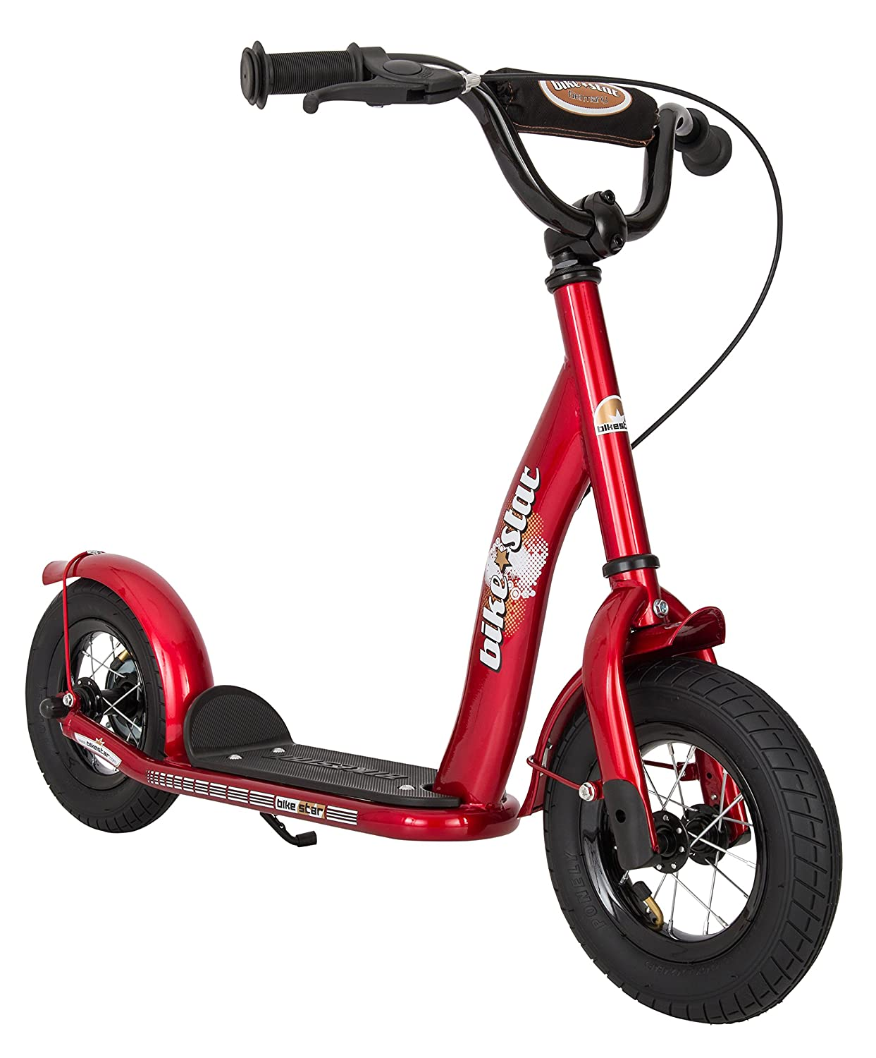 Bikestar 10 inch (25.4 cm) Kids Kick Scooter Red