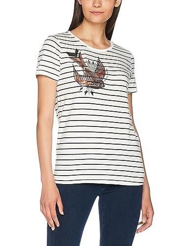 Only Onlkira S/S Bird Print Top Box ESS, Camiseta para Mujer