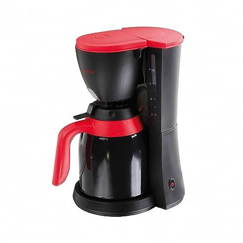 Domoclip DOD129u0026nbsp;Kaffeemaschine, Elektrische, Mit Thermoskanne, Schwarz  Und Rot, 1u0026nbsp;
