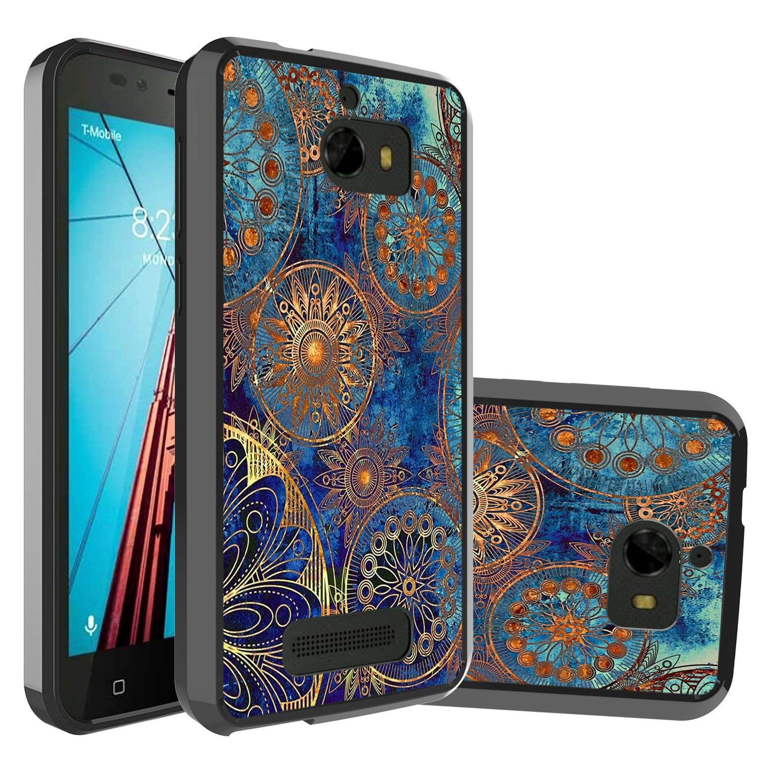 timeless design 519bb 4cba9 Coolpad Defiant Case,CoolPad 3632A Case,Wtiaw Gold Gear Colorful Ultra Slim  Acrylic Hard Cover TPU Bumper Hybrid for CoolPad 3632A-YKL Black