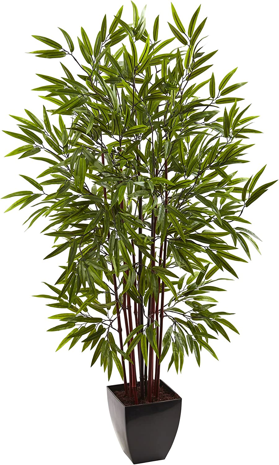 Nearly Natural Bamboo Silk Tree with Planter, 5'