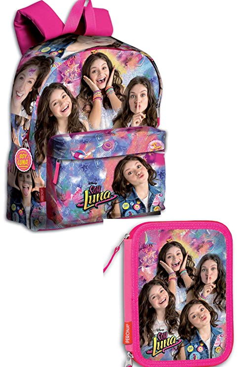 Soy Luna Mochila 42,5 x 30 X14 Mochila Escolar Jam & Roller + Estuche