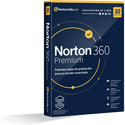 Norton 360 Premium 2020 - 10 Dispositivos, 1 Año, para PC/Mac