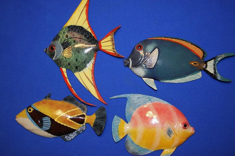 大割引 ソルトペリカン カラフル 保育園 コーラルリーフ 魚 保育園 壁彫刻 壁彫刻 カラフル 3Dポリレジン6インチ 4本セット B07DPSYP19, ASH-LIFE:89577d64 --- irlandskayaliteratura.org